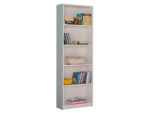 """Βιβλιοθήκη """"MAX"""" σε λευκό χρώμα 58x23x170"""