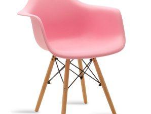"""Πολυθρόνα """"JULITA"""" από PP σε χρώμα ροζ/φυσικό 62x60x78,5"""