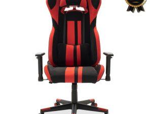 """Πολυθρόνα εργασίας """"BOTTAS SUPREME QUALITY"""" από pu σε χρώμα μαύρο-κόκκινο 73×68/120×126/136"""