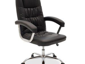 """Πολυθρόνα διευθυντή """"VIGGO"""" από PU σε χρώμα μαύρο 72x77x110/121"""