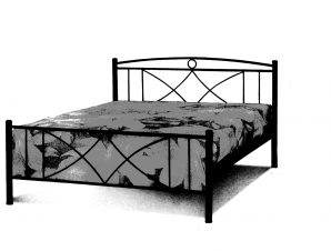 Κρεβάτι Σιδερένιο Διπλό 415 – Β – 3-415