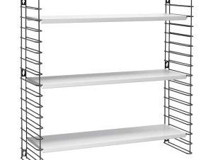 Ραφιέρα Επιτοίχια 3 Όροφη Μεταλλική Libro 70x21x68εκ. Metaltex – METALTEX – 377603