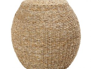 Σκαμπώ Seagrass ESPIEL 44×43εκ. KAG317 (Χρώμα: Μπεζ, Υλικό: Seagrass) – ESPIEL – KAG317